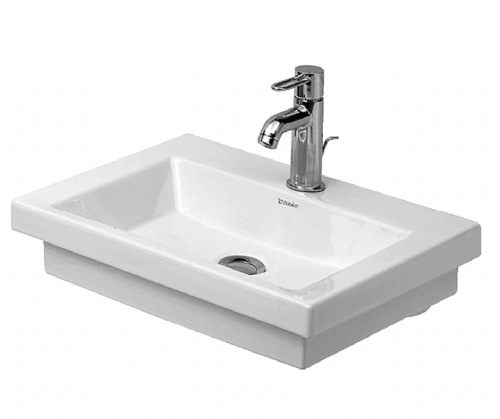 Duravit 0790500000 2nd Floor Basin - 500 x 400mm - 1 Tap Hole - Pallet Of 13 - In White